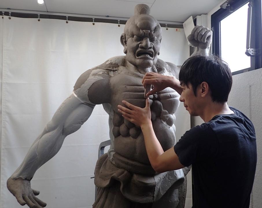 縄・旧円覚寺仁王像復元~仏像の保存、修理の現場からのイメージ